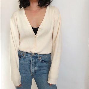 Vintage Ribbed Cotton Cardigan